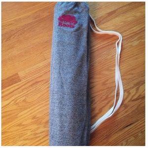 roots yoga mat bag grey pink nwot